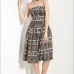 Anthropologie Tracy Reese Tribal Strapless dress